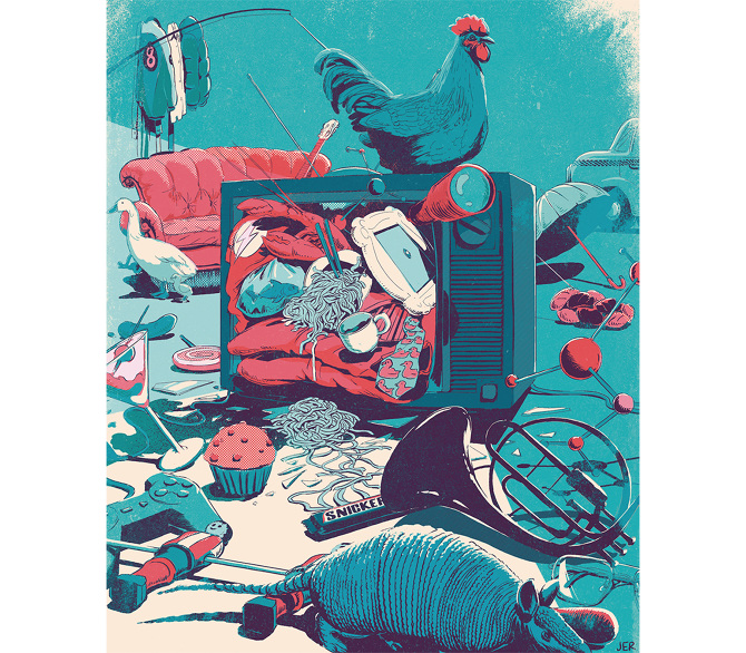 Illustration for Wired Italia - Juan Esteban Rodríguez