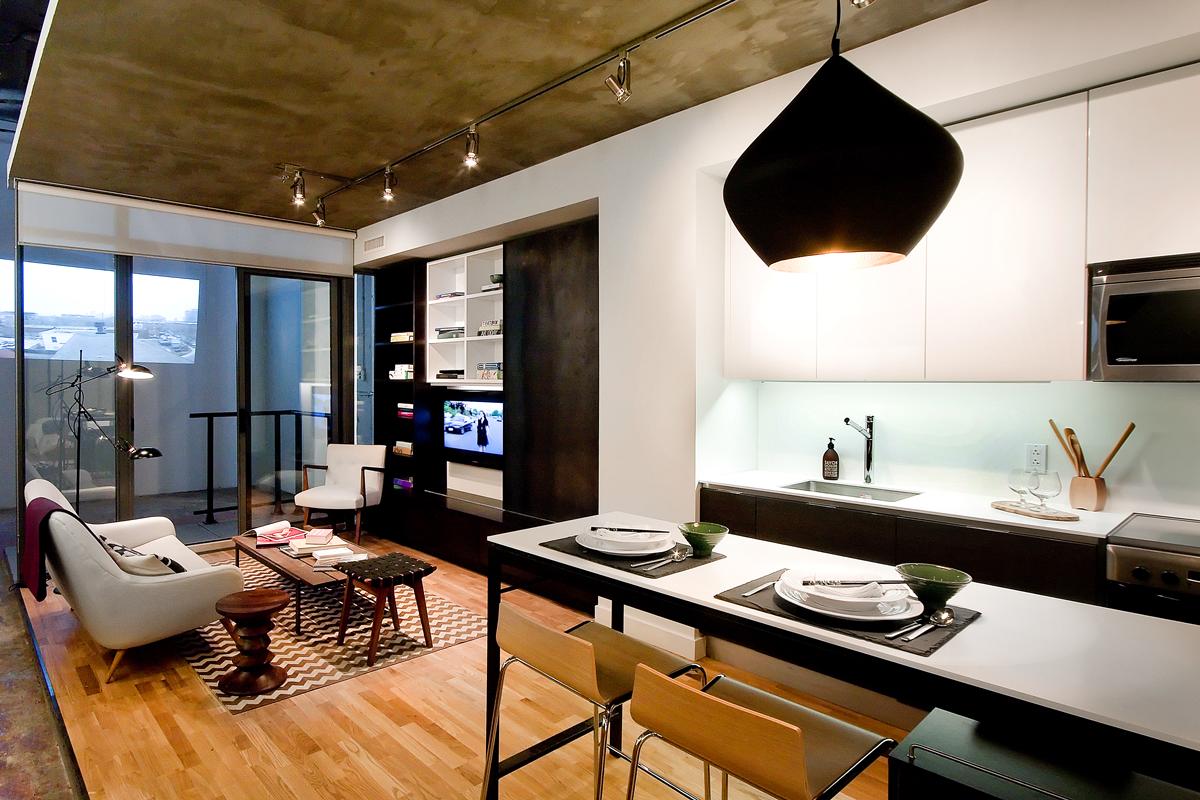 Art condo interior paul syme architect - Condominium interior design concept ...